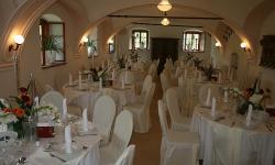 Feierliche Räume im Restaurant zum grünen Baum