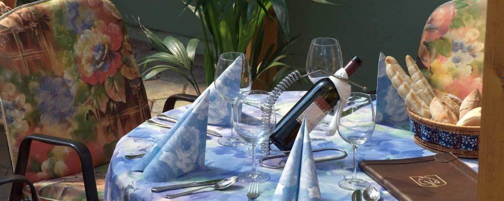 Wein im Gastgarten: Restaurant Wallner