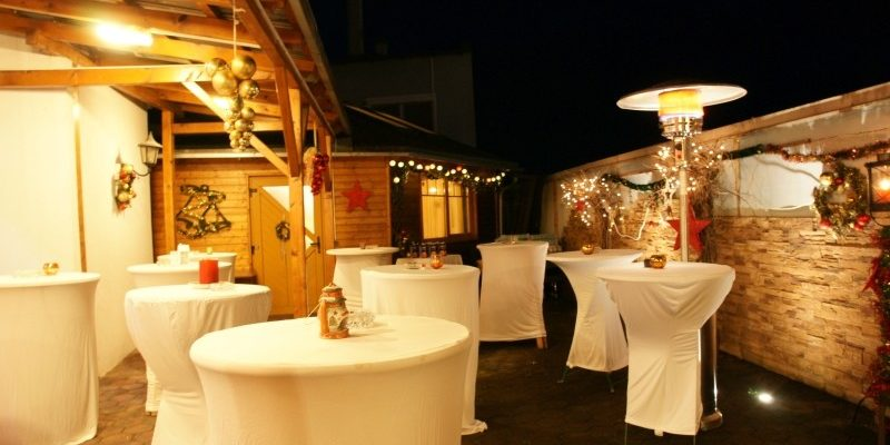 Catering bei Nacht